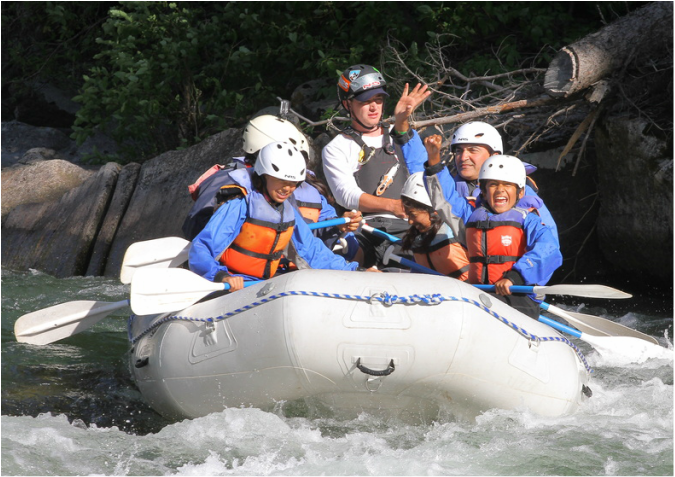 Rafting in Big Sky Montana with Geyser Whitewater Expeditions